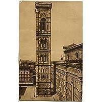 1929 Firenze - Cattedrale e Campanile di Giotto, Firenze Ferrovia - FP B/N VG Cartolina Postale