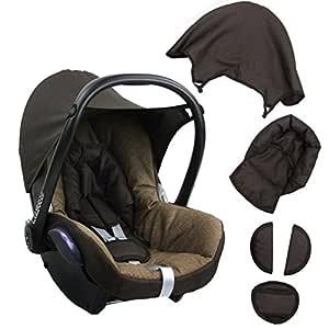Bambiniwelt Ersatzbezug Für Maxi Cosi Cabriofix 6 Tlg Braun Dunkelbraun Bezug Für Babyschale Komplett Set Xx Baby