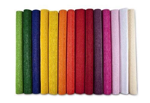 Krepp-Papier, nicht ausblutend, B 50 cm, L 250 cm, dunkelrot