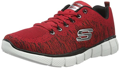 Skechers Equalizer 2.0Perfect Game, Baskets Basses Homme, Rouge-Rouge (Rdbk), 47.5 EU