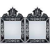 MADHUSUDAN GLASS WORKS Mirror & Plywood Wall Mirror (Pack Of 2, Silver) - B07BJ4JJR7