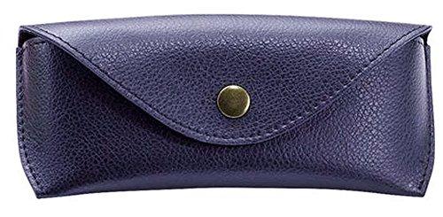 ui aus echtem Leder, groß, ca. 16 x 7 x 4 cm Taschenorganizer, 16 cm, Blau (Blaue Knopf Ca)