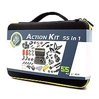 مجموعة إكسسوارات كاميرا DeKaSi لجو برو هيرو ماكس 7 6 5 4 3+ 3 2 1 Hero Session 5 مجموعة إكسسوارات سوداء لـ Yi AKASO Apeman (GoPro-Accessories-Case-kit-Max)