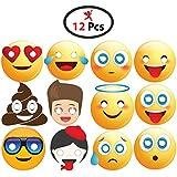 Party Propz™ Emoji Eye Mask Set Of 12 Pieces / Emoji Party Supplies / Emoji Party Decorations / Emoji Party Props / Emoji Decoration / Emoji Birthday Decorations / Emoji Birthday Party Supplies