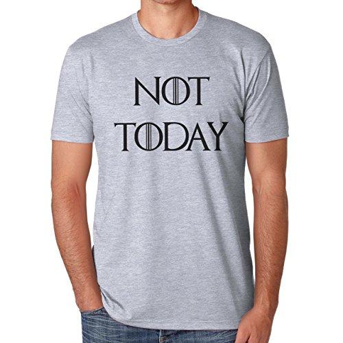Not Today Game Of Thrones Theme Herren T-Shirt Grau