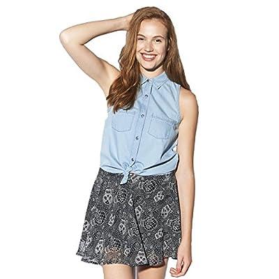 adidas Neo Women's Girls Selena Gomez Sleeveless Denim Shirt