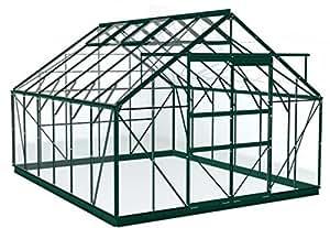 Simplicity Shrewsbury Vert 10x 12Serre en aluminium de débutant avec en verre trempé