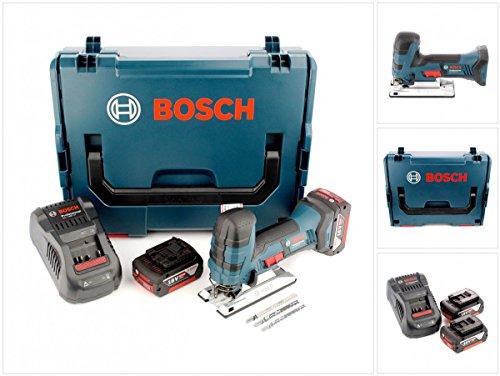 Preisvergleich Produktbild Bosch GST 18 V-Li S Professional Akku Stichsäge Solo in L-Boxx mit Ladegerät GAL 1880 und 2x GBA 6 Ah Akku