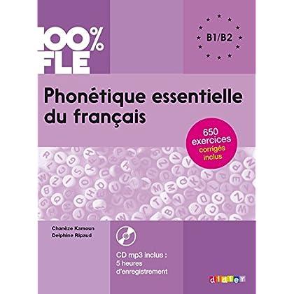 Phonétique essentielle du français niv. B1/B2 - Livre + CD