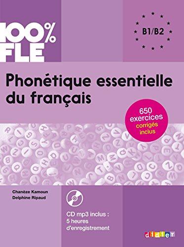 Phonétique essentielle du français niv. B1/B2 - Livre + CD par Delphine Ripaud
