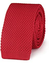 Cravate tricot ROUGE uni