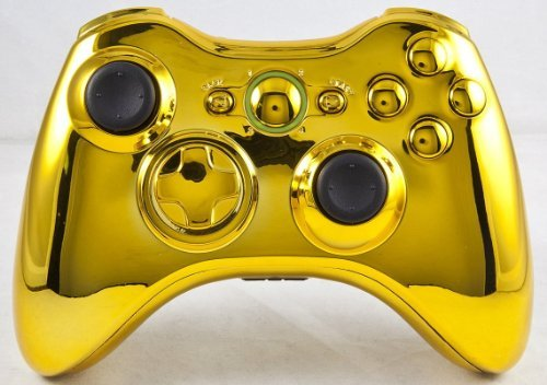 Gold Xbox 360 Modded Controller including Rapid Fire COD MW3, Black Ops, MW2, Black Ops 2, Advanced Warfare, Ghosts, GOW, Battlefield 4