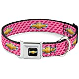 Buckle Down 22,9–38,1 cm chb-Chevy Schleife Full Color Schwarz/Gold Hund Halsband