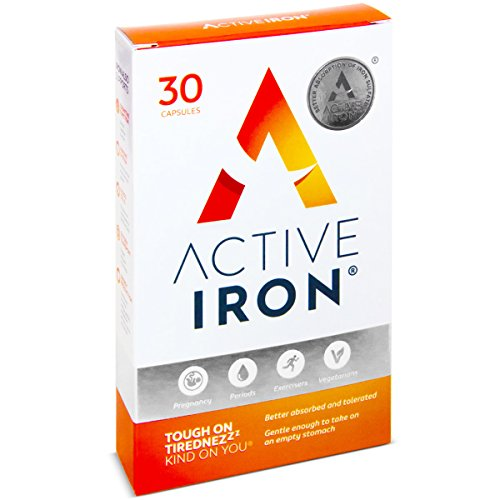 Active Iron | Iron Tablets | Ferrous Iron Sulphate Supplement | Clinically Proven | 1-Month Supply