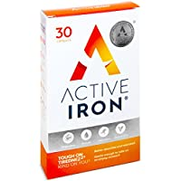 Active Iron   Iron Tablets   Ferrous Iron Sulphate Supplement   Clinically Proven   1-Month Supply