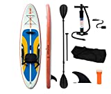 LOYALFUN Sup aufblasbares Stand up Paddle Board Set mit Doppel-Paddel