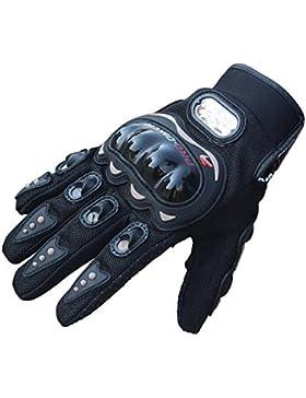OverDose guantes de cuero de la motocicleta de la motocicleta