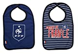 Bavoir bébé x 2 FFF - Collection officielle Equipe de France de Football