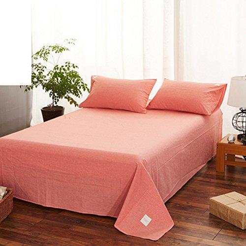 Baumwolle Matratzenbezug 100 Königin (Baumwollbettwäsche,Japanischen stil tagesdecke hypoallergen verformt nicht einfach für alle jahreszeiten königin könig sizesolid farbe gitter-C 250x245cm(98x96inch))