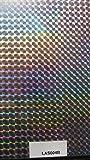 NEU!! Wassertransferdruck Folie Regenbogen Laserfilm Laserfolie Holographic 1 Meter x 50cm Breite Watertransferprinting Wassertransferdruckfilm LAS004B