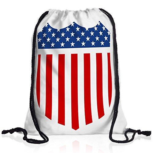 style3 USA Medal Flag Flagge Amerika Rucksack Tasche Turnbeutel Sport Jute Beutel -
