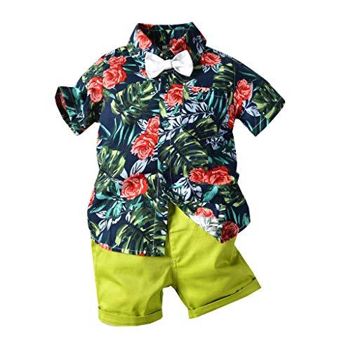 TTLOVE_Baby Mädchen Kleid Kleidung Kind Kleinkind Girls Sommerkleid Cartoon Streifen Sommer Kurzarm Baumwolle T-Shirt Kleid Dress Strandrock Taufe-Partykleid(Rosa,80)