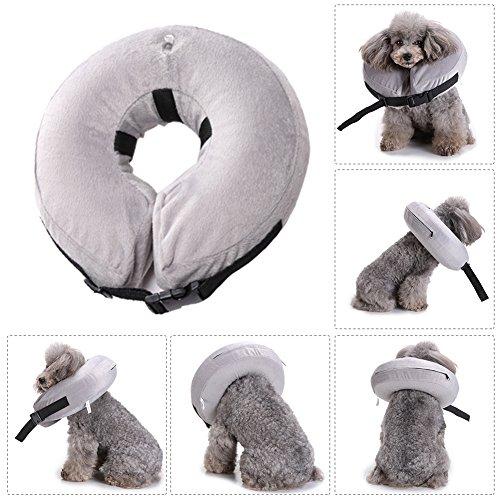 Comaie® Aufblasbare Haustier-Halsband für Hunde, mit, der komfortable Schutzhülle hohe Qualität Waschbare Schutzhülle mit weichem Wundheilung Beauty Warme mit Hund