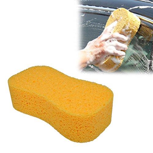 Amaoma Autowaschschwamm Wabenkoralle mit Hohen Dichte Schwamm Autowäsche Jumbo Auto Schwamm mit Reinigungsschwamm wischt für Autowäsche, 1 Stück 23 * 12 * 4.5 cm (Gelb)