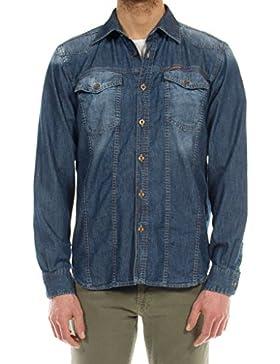 Carrera Jeans - Camisa Jeans 2101005X para hombre, estilo western, ajustado, manga larga