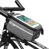 TODAYTOP Fahrradtasche für Mountainbike, Vordertasche, Sattel, Schlauch, Fahrradtasche, lange Reichweite, Fahrrad, wasserdicht, Fahrradtasche, grau