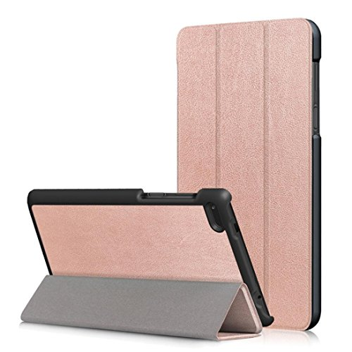 MuSheng(TM) Leather Slim Folding Stand Painted Case Cover For Lenovo Tab 7 Essential TB-7304F/I/X (Rose Gold)