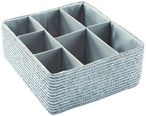 Compactor RAN4753 Schubladen Organizer mit 7 Fächern, 35 x 32 x 14 cm, grau (Extension Set 32)
