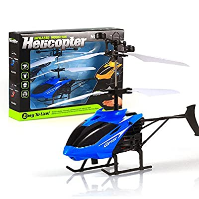 Kingko® New Version Indoor Outdoor RC Mini Helicopter D-716 Radio Remote Control Aircraft Toy Infraed Induction Aircraft Flashing Light Flying Toys