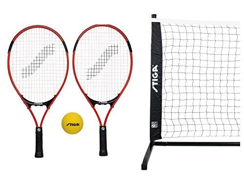 Haberkorn Kinder Tennis Set 2 Kinder Tennisschläger mit Ball und großem Netz
