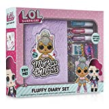 L.O.L. Surprise ! Diario Bambina LOL | Set Diario e Accessori con Bambole LOL Confetti Pop Kitty Queen, Diva | Copertina Super Morbida Soffice di Peluche | Idea Regalo da 4 5 6 7 8 9 10 +