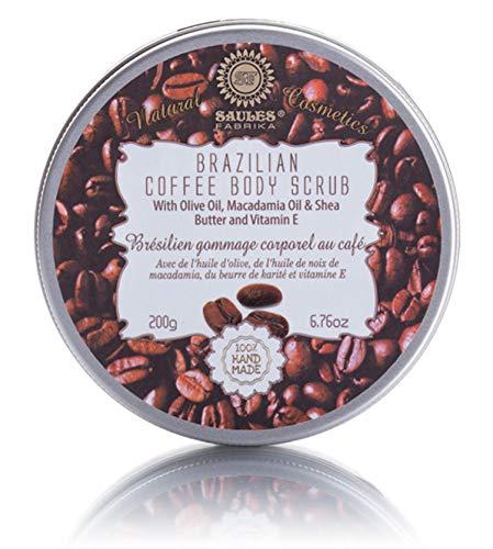 Saules Fabrika Kaffee Körperpeeling Peeling Intensiv-Pflege mit Shea Butter Macadamia Öl Body Scrub Coffee - Shea-butter-zucker-peeling