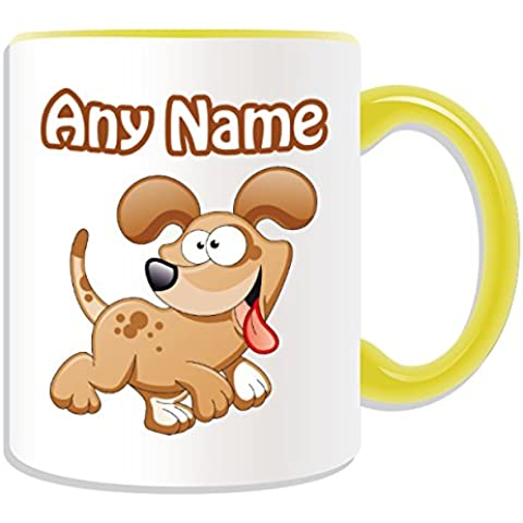 Occasions Direct-Tazza in confezione regalo, motivo: Happy Dog#1, tema animali,