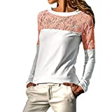 Innerternet Women Blouse Long Sleeve Solid Lace Trimmings Hollow Out Loose Tops