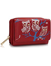 Damen Gepunktet Mini Geldbörse Münzbörse Kleingeldbörse Portemonnaie Brieftasche