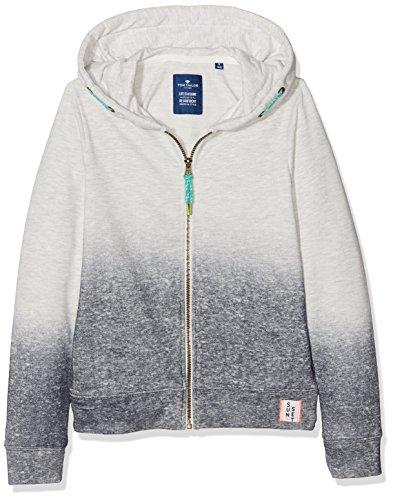 TOM TAILOR Kids Jungen Sweatjacke Sweatjackets, Beige (Greyish Beige  Melange Beige 8353), 152 31792da1e1