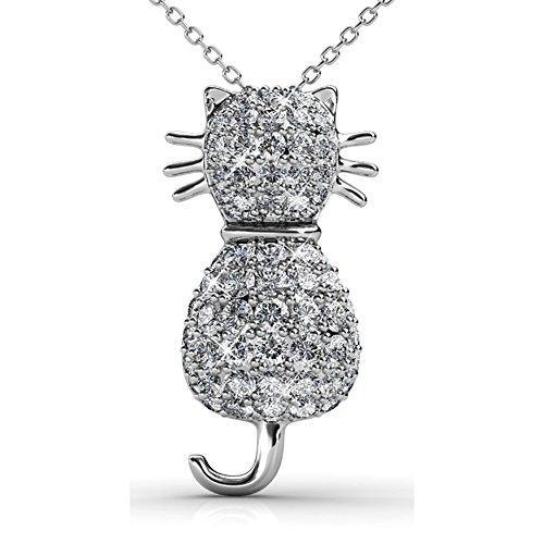 Fappac ciondolo a forma di gatto arricchito con cristalli swarovski