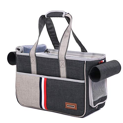 LTL pet stroller Zaino per Animali Domestici Zaino per Gatti Zaino per Cani Zaino Portatile Traspirante (Colore : S-Black)