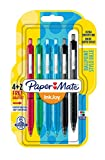 PaperMate InkJoy 300RT, bolígrafo retráctil, punta media de 1mm y colores estándares surtidos, paquete de 4+2 (1956574)