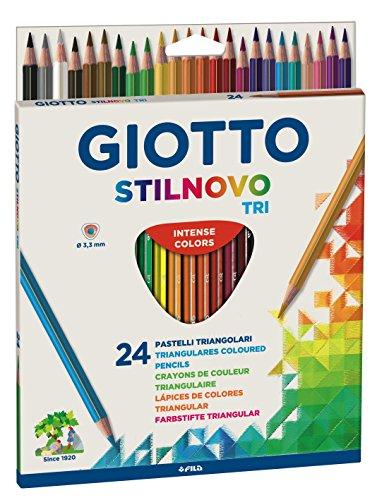 Giotto 257100-pastelli triangolari, 6,8mm, personalizzabili