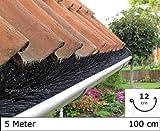 Dachrinnenbürste 5 Meter Ø 12cm, inkl. 3 Sicherungsklammern gegen Sturm und Wind