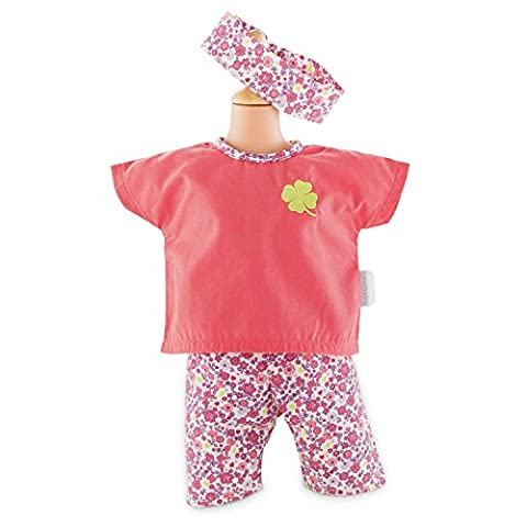 Corolle FCB93 Floral Bloom Legging Set for 12-Inch Baby Doll