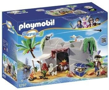 Preisvergleich Produktbild PLAYMOBIL 4797 Super 4 - Piraten-Höhle