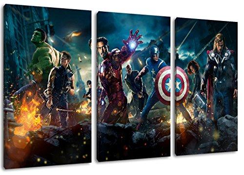Héroes de Marvel pintura sobre lienzo, (Total Tamaño:...