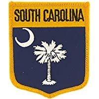 Findingking South Carolina state Flag Shield patch 27/8