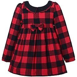Vestido de la tela escocesa de invierno Richie Casa de las niñas con el paño grueso y suave RH2248-A-8